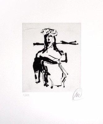 Markus Lüpertz Print Etching Ohne Titel (Ulysees)
