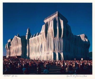 Christo und Jeanne-Claude Reichstag 18 Uhr Fotografie