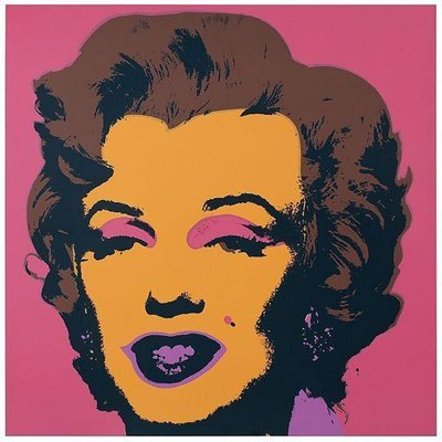 Andy Warhol Marilyn Serigraph Pink Yellow Sunday B. Morning