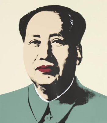 Andy Warhol Mao Gelb Grün Siebdruck Sunday B. Morning