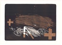 Antoni Tapies Lithographie A efface