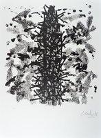Günther Uecker Print Lithograph Natur - eine Studie