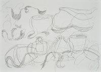 Tony Cragg Zeichnung O.T. II Komposition
