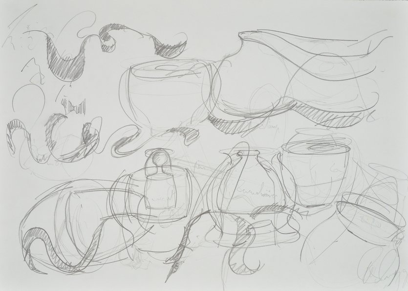 Tony Cragg Drawing o.T. II Composition