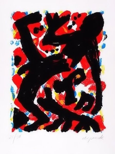 A.R. Penck Dresden 2 Siebdruck Grafik