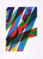 Piero Dorazio Lithographie Grafik Contrario