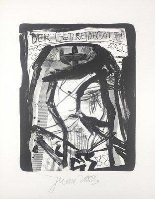 Jonathan Meese Der Getreidegott Lithograph Print