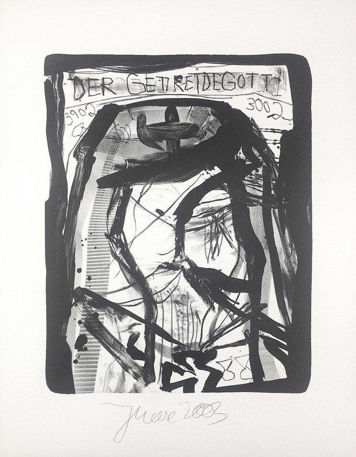 Jonathan Meese Der Getreidegott Grafik Lithografie