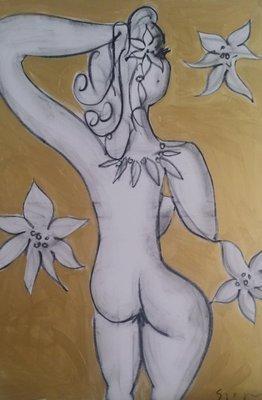 Stefan Szczesny Original Unikat Blüten in Gold