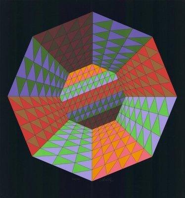 Victor Vasarely Siebdruck Heisenberg