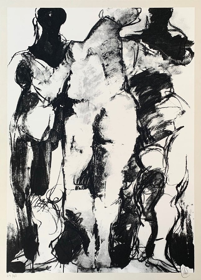 Markus Lüpertz o.T. Drei Grazien Print Serigraph