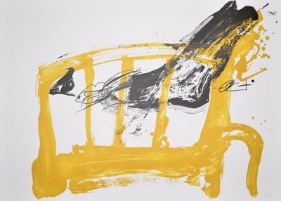 Antoni Tapies Lithograph Print Chaise et pied