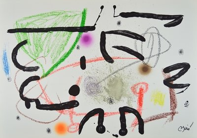 Joan Miro Print Lithograph Maravillas 15
