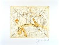 Jonathan Meese Print Etching Zwei Schwänze Für Ein Halleluja