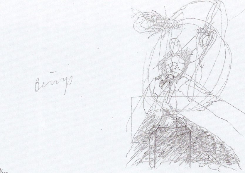 Joseph Beuys Grafik Granolithographie Leonardo Codice Madrid III