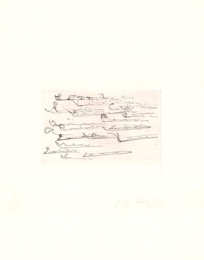 Joseph Beuys Urschlitten II Zirkulationszeit Grafik