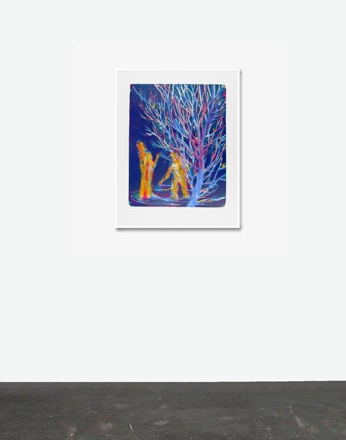 Daniel Richter Print Flagge Lithograph For Sale I ARTEDIO