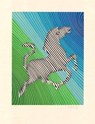 Victor Vasarely Zebra No. 2 (III) Print