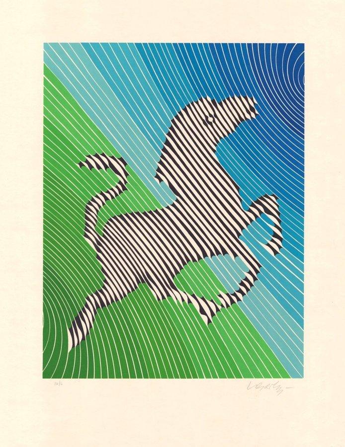 Victor Vasarely Zebra No. 2 (III) Grafik