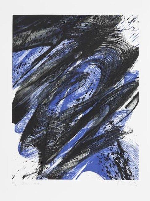 Karl Otto Götz Grafik Lithographie Blonto