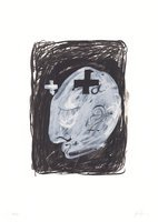 Antoni Tapies Lithographie Grafik Profil