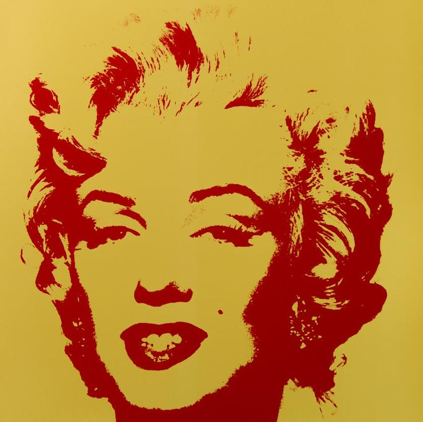 Andy Warhol Golden Marilyn VI Serigraph Sunday B. Morning