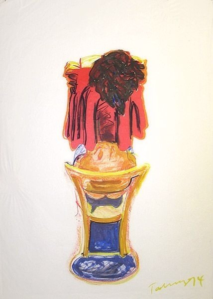 Norbert Tadeusz Watercolour Viola Blau