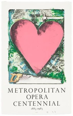 Jim Dine A Heart at the Opera Print Lithograph