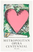Jim Dine A Heart at the Opera Grafik Lithographie