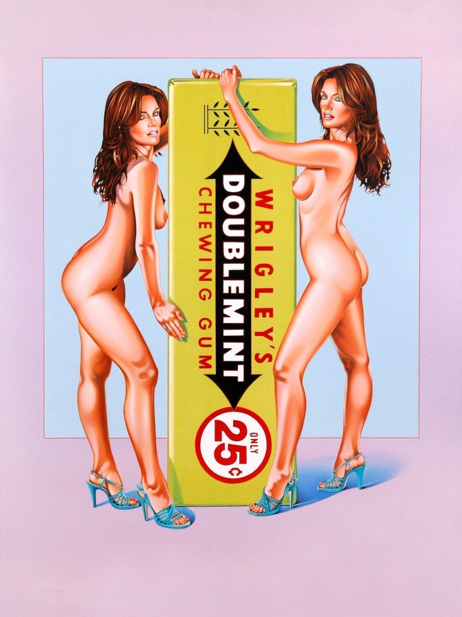 Mel Ramos Doublemint Twins Grafik Lithografie