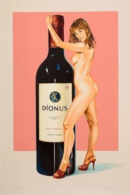 Mel Ramos Dionus Lithografie Grafik