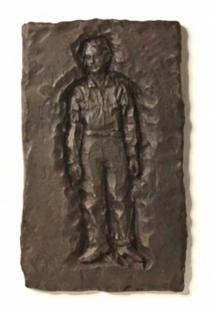 Stephan Balkenhol Relief Man Bronze Relief
