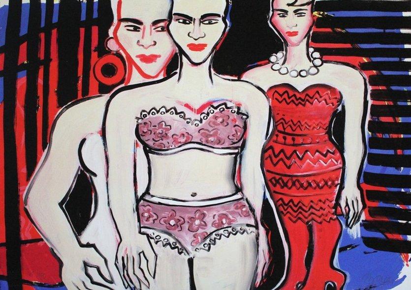Elvira Bach Grafik Giclee Ausziehend