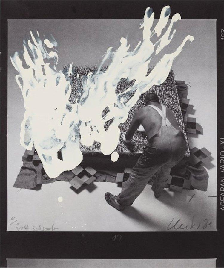 Günther Uecker Unique Print Entwicklung eines Werkes III