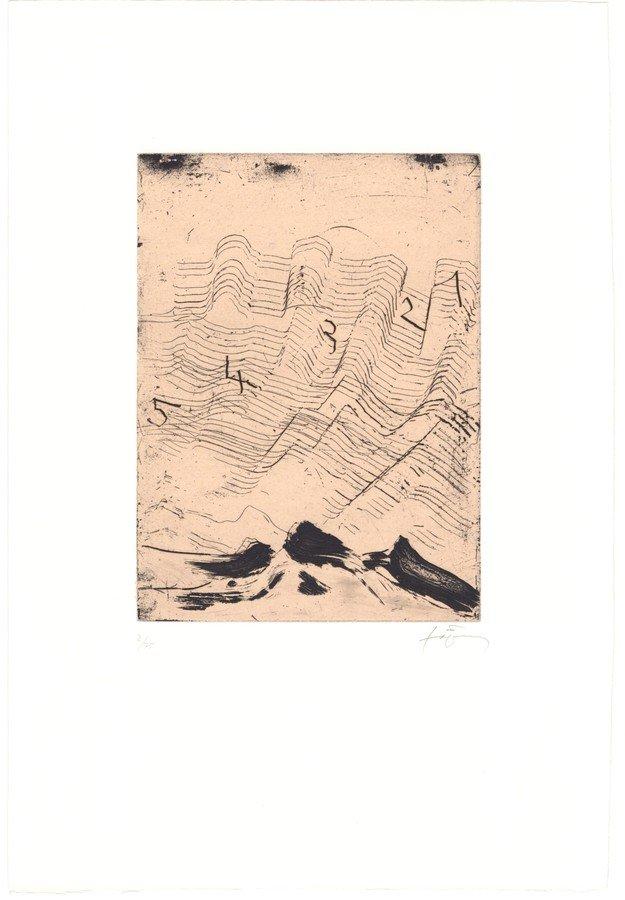 Antoni Tapies Radierung Homenatge a Max Ernst