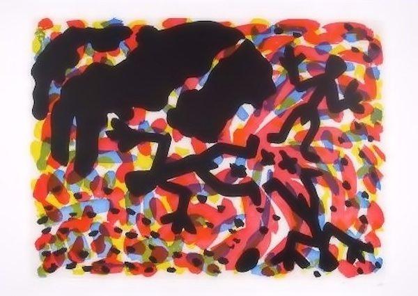 A.R. Penck Berlin VII Bild Grafik Radierung