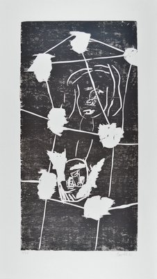 Georg Baselitz Woodcut Print 45-April
