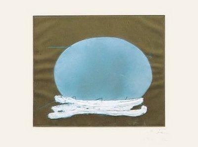 Antoni Tapies Print Oval i blanc