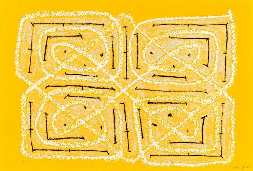 Joan Jonas Eiserner Vorhang Grafik Siebdruck