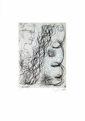 A.R. Penck Print Etching Jetset 4 Brillenträger