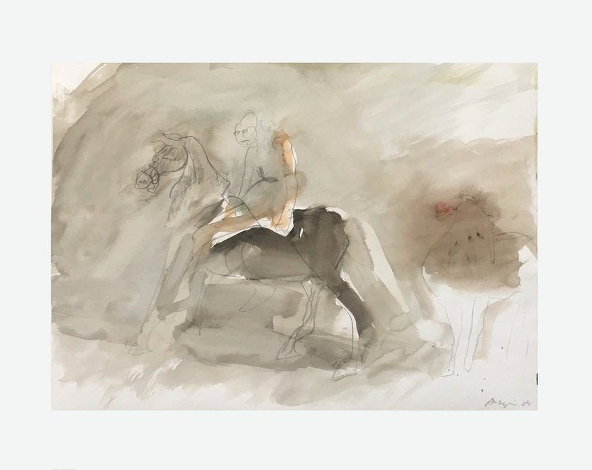 Siegfried Anzinger Watercolor Untitled II 2004